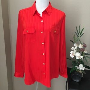 ♦️NWT Jones New York Blouse 16 RED